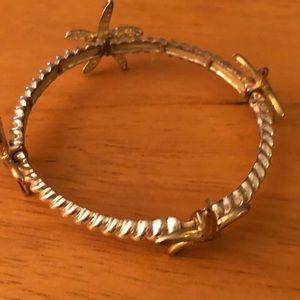Starfish silver plated bangle